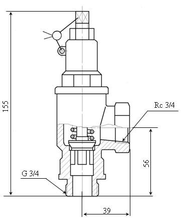 Клапан предохранительный 17б2бк1
