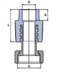 Муфта комбинированная с накидной гайкой EKOPLASTIK_2