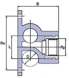 Тройник с внутренней металлической резьбой
