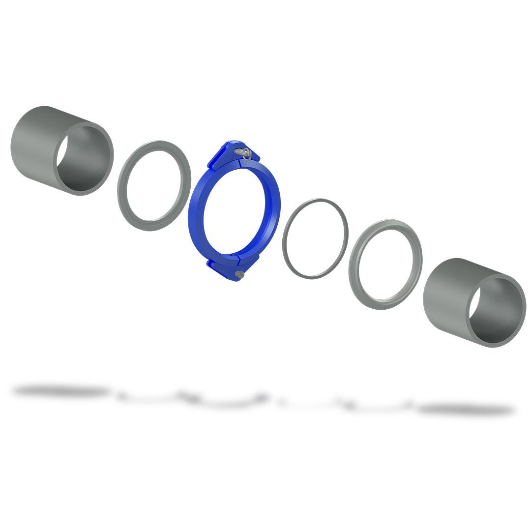 Быстроразъемное соединение БРС высокого давления с клином взрыв