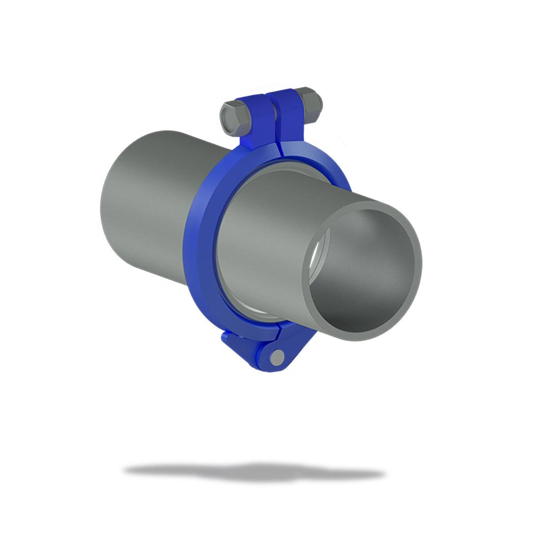 Быстроразъемное соединение БРС высокого давления с болтом вместе трубы
