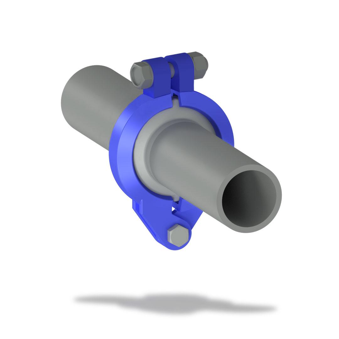 Быстроразъемное соединение БРС низкого давления с болтом вместе трубы