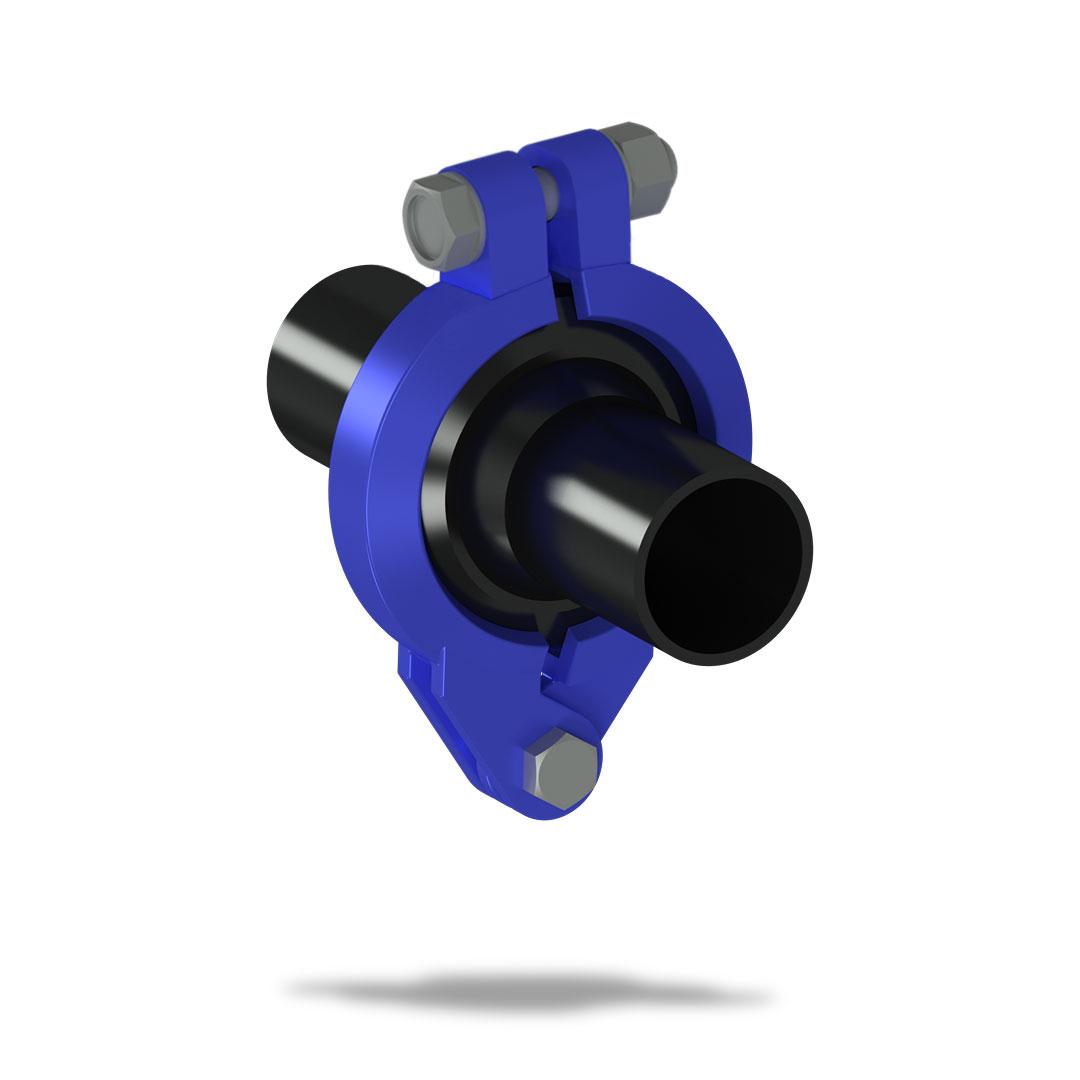 Быстроразъемное соединение БРС для труб ПНД с болтом вместе втулки